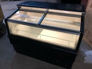 4 Hussmann Lbn 4 Slide Top Black Glass Ice Cream Reach In Freezer Merchandiser