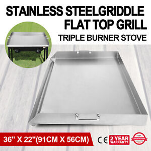 36 X 22 Stainless Steel Griddle Flat Top Grill Bbq Stove Heavy Duty Cookware