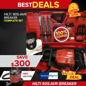 Hilti Te 905 Avr Preowned Free Vacuum Extras Fast Shipping
