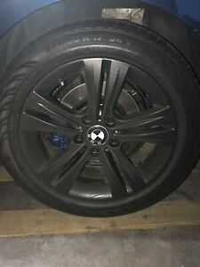4 Wheels And Tires Mounted For A 2016bmw 328i In Very Good Condition