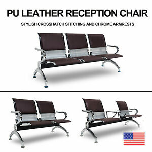 Waiting Room Bench Airport Chair Office Chair Salon Reception Pu Leather Durable