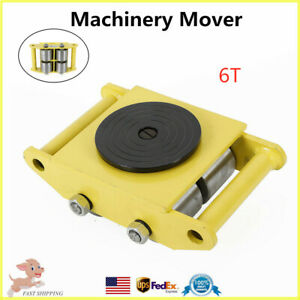 6t Machinery Mover Machine 4 Rollers Dolly Skate Roller Transport Tool 360 Usa