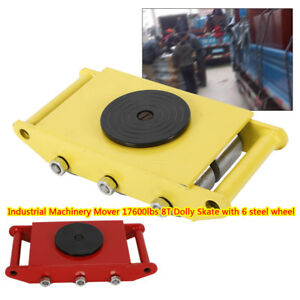 8t Machinery Mover W 8 Steel Wheel Dolly Skate 360 Rotation Moving Tool Usa