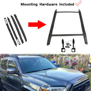 For 05 18 Toyota Tacoma Double Cab Luggage Carrier Roof Rack Crossbar Side Rails