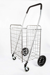 Primetrendz Pt5614 Grocery Laundry Utility Shopping Cart Heavy Duty Light