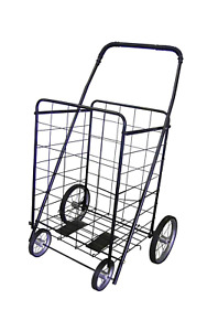 Primetrendz Folding Shopping Cart With Metal Wheels Size Jumbo 41 75 H X 24