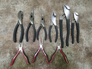 Craftsman 9pc Pliers 6 Made In Usa Diagonal Cutter Slip Needle Nose Arc Joint