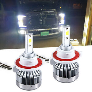 Max Hid White 160w 12000lm H13 Led Headlight Bulbs For Ford Super Duty 05 2018