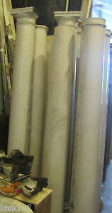 Early 1900 7 Foot Heavy Wood Tapered Column Vintage Architectural Salvage