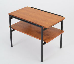 Don Knorr Vista Of California Side Table Mid Century Modern Mahogany Steel Shelf
