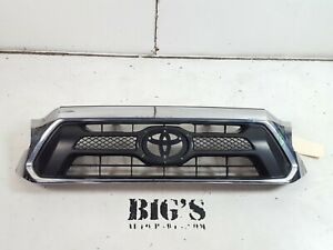 2012 2013 2014 2015 Toyota Tacoma Front Upper Grille chrome Oem Used