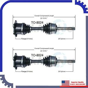 New Cv Axle Shaft A Pair Front Left Right For 1986 1987 Toyota Pickup Rn63