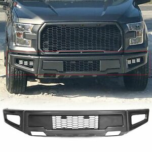 Gray Raptor Style Steel Front Bumper Assembly For Ford F 150 F150 2015 2017