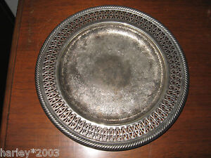 Vintage Rogers By Oneida Silverplate Serving Tray Platter Made In Usa