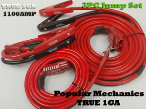 3pc 1ga 1100amp 28ft Quick connect Jumper booster Cable Set Tow service Truck