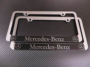 2pcs Mercedes Benz Halo Chrome Plastic License Plate Frame