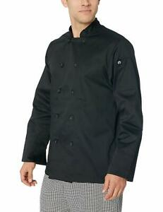 New Chef Works Men s Bastille Chef Coat Black Small Free2dayship Taxfree