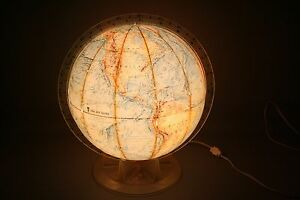 Vintage Time Life Lighted 12 Globe By Replogle Kids Children Nightlite