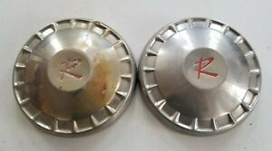 1960 s Rambler Hubcaps Wheelcovers Dog Dish