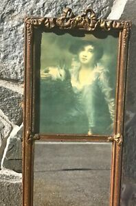 Vintage Mirror With Boy And Rabbit Reproduction Sir Henry Raeburn 29 5 Tall