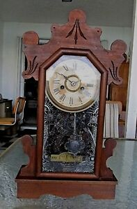 Antique Victorian Ansonia Parlor Clock 8 Day Fascinating History A O
