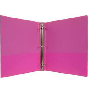 1 Hard Cover pvc Free 3 ring Binder Neon Pink Case Pack 24 1 Hard Cove