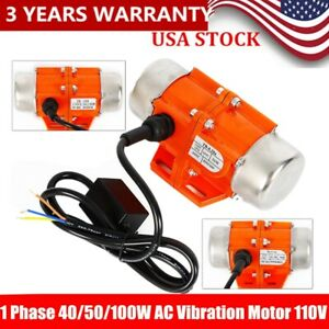 40 50 100w Vibration Motor Ac 110v Industrial Asynchronous Vibrator 3600rpm