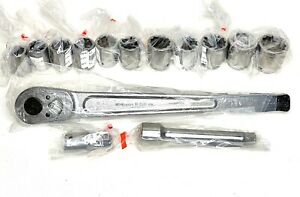 New Williams 13 piece 3 4 inch Drive 12 point Socket And Drive Tool Set
