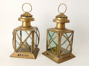 Pair Of Antique Oil Lanterns With Burners Free Uk Postage
