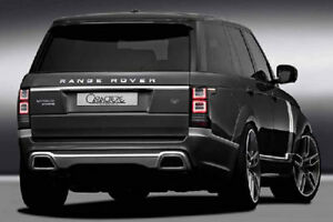 2013 Caractere Range Rover Vogue Rear Bumper With Dual Inox Exhaust Pipes
