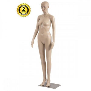 Female Full Body Mannequin Plastic Realistic Display Head Turn Dress Form W base