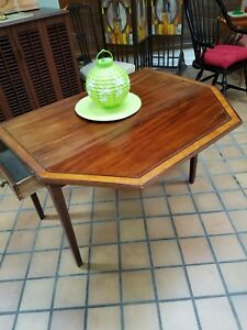 Antique Drop Leaf Table With Clipped Corners