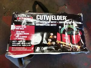 Lincoln Electric Cut Welder Kit With Torch Oxygen And Acetylene Regulators 3 1