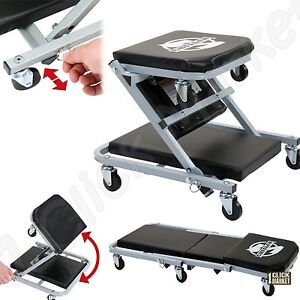 Creeper Seat Mechanics Workshop Rolling Chair Shop Garage Repair Stool Cart Tray