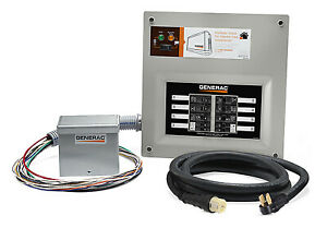Generac 6853 Manual Transfer Switch Kit Indoor Nema1 Enclosure 30 amp