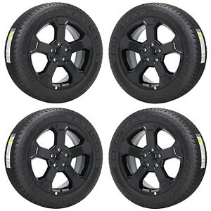 20 Jeep Grand Cherokee Upland Gloss Black Wheels Rims Tires Factory Oem Set
