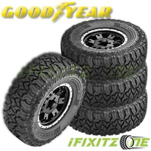 4 Goodyear Fierce Attitude M T Lt265 70r17 121p E Performance Tires