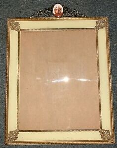 Antique French Gilded Brass Bronze Picture Frame Large Size 14 Inches