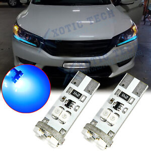 T10 Ice Blue Led Light For Honda Accord 2013 2014 2015 Headlight Strip Bulbs Drl