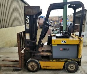 Daewoo 2 800 Lb Capacity Sit Down Electric Fork Lift 36v Model Bc20s