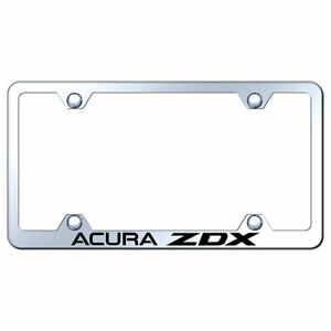 Wide Body License Plate Frame With Acura Zdx On Stainless Steel licensed