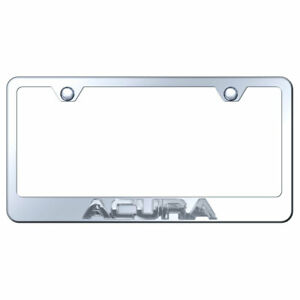 License Plate Frame Chrome With Acura 3d On Chrome Metal officially Licensed