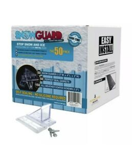 Snow Guard 50 mini Stop Ice Buildup Seal Gasket Metal Roof Mounting New In Box