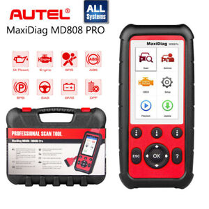 Autel Maxidiag Md808 Pro Obd2 All System Auto Diagnostic Tool Fault Code Scanner