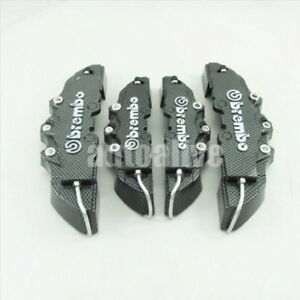 4pcs Carbon Fiber Look Front Rear 3d Style Disc Brake Caliper Covers Universal