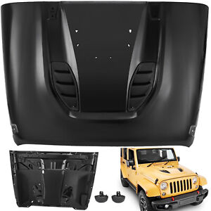 For 07 18 Jeep Jk Wrangler Full Metal 10th Anniversary Hard Rock Style Hood