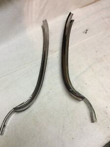 Oem 1961 1962 Chevy Impala Stainless Winshield Pilllar Trim Set
