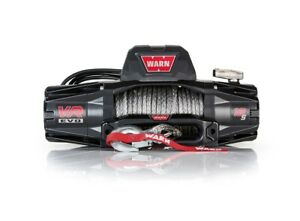 103255 Warn Vr12 s 12k Lb Self recovery Electric Winch W 90ft Of Synthetic Rope