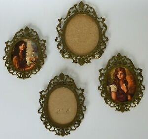 Set Of 4 Vintage Picture Frames Made In Italy