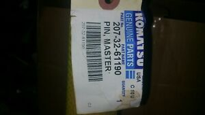 New Komatsu Pin Track Master Part 207 32 61190 Free Shipping